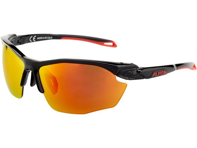 Alpina Twist Five HR CM+ Bril, black matt-red